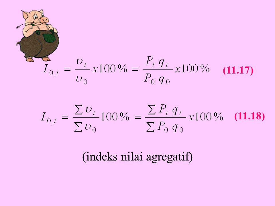 (indeks nilai agregatif) (11.17) (11.18)