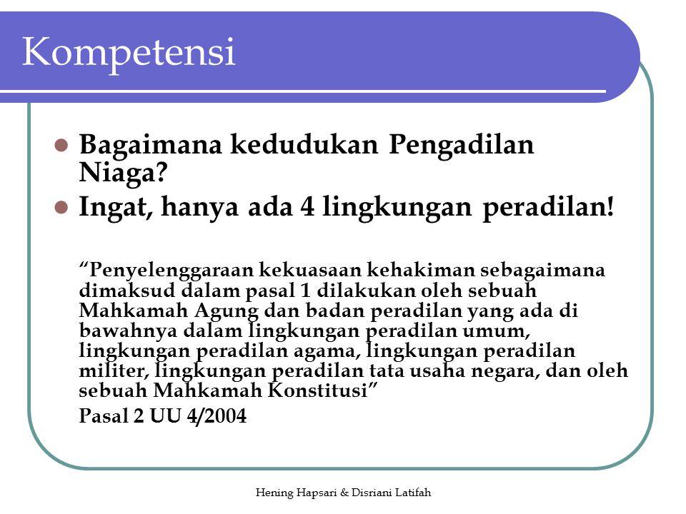 Hening Hapsari & Disriani Latifah Kompetensi Bagaimana kedudukan Pengadilan Niaga.