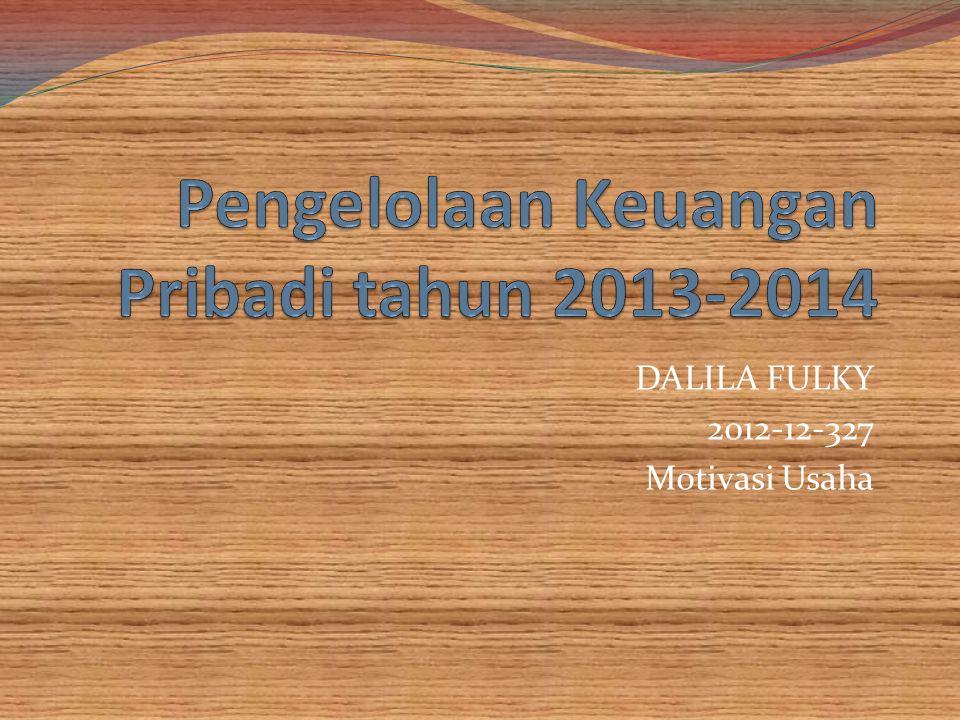 DALILA FULKY 2012-12-327 Motivasi Usaha