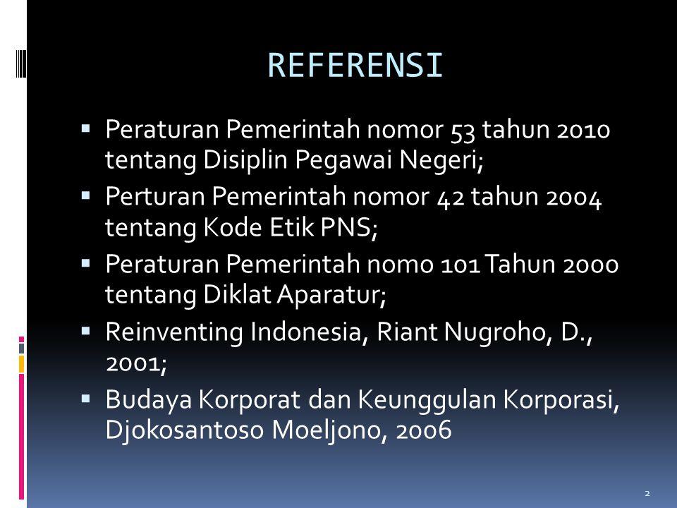 SKENARIO PROGRAM PENDIDIKAN DAN PELATIHAN PNS (Suatu Pemahaman hasil analisis PP no.