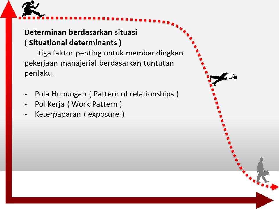 Penelitian untuk situasi determinasi ( research on situational determinants ) Penelitian untuk situasi determinasi dibagi berdasarkan beberapa tahapan.