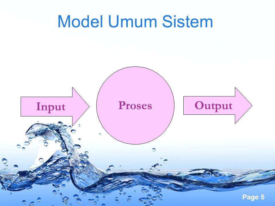 Page 5 Model Umum Sistem Input Proses Output