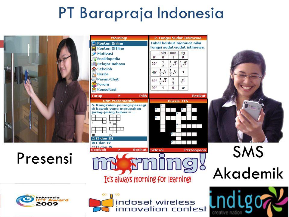 PT Barapraja Indonesia Presensi SMS Akademik