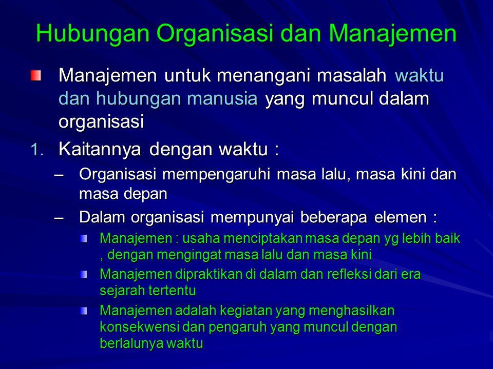 lanjutan Manajer : orang yang bertanggung jawab terhadap organisasi untuk mencapai sasarannya Keberhasilan suatu organisasi untuk mencapai tujuan dan memenuhi tanggung jawab sosialnya  tergantung pada manajer
