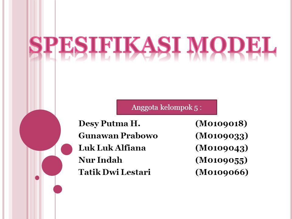 Desy Putma H.(M0109018) Gunawan Prabowo(M0109033) Luk Luk Alfiana(M0109043) Nur Indah(M0109055) Tatik Dwi Lestari(M0109066) Anggota kelompok 5 :