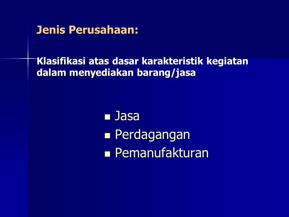 Perusahaan Jasa Menghasilkan jasa dan bukan barang atau produk untuk pelanggan Jasa adalah tugas atau aktivitas yang dilakukan untuk seorang pelanggan, atau aktivitas yang dijalankan oleh seorang pelanggan dengan menggunakan produk atau fasilitas organisasi.