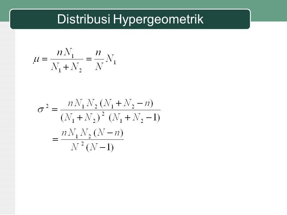 Distribusi Hypergeometrik