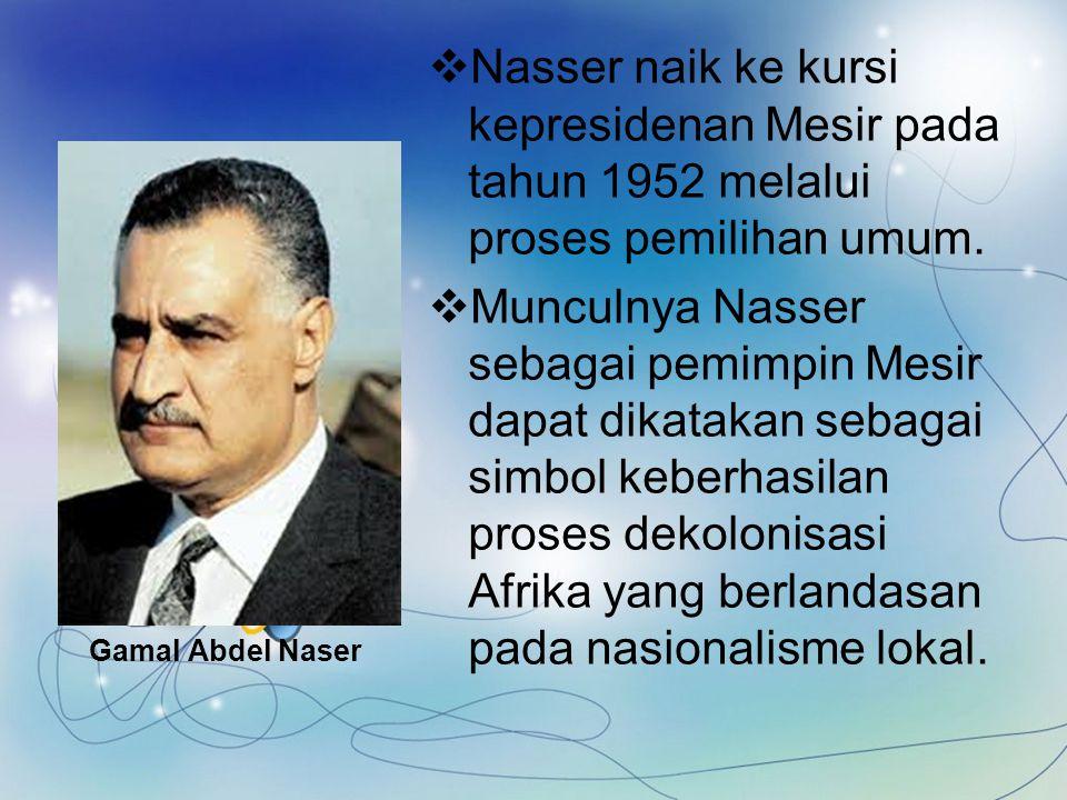 Gerakan Nasionalisme di Libya  Pergerakan Nasionalisme dipelopori oleh Raja Idris El- Sanusi dalam menetang dominasi Italia sejak tahun 1916.