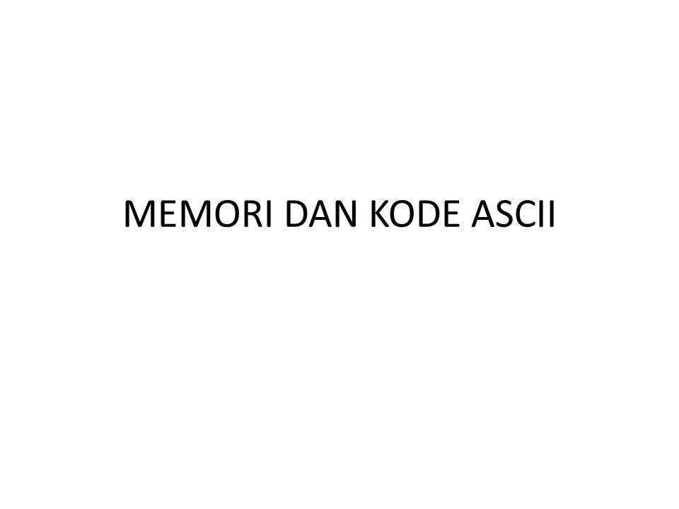 KODE ASCII Kode Standar Amerika untuk Pertukaran Informasi atau ASCII (American Standard Code for Information Interchange) merupakan suatu standar internasional dalam kode huruf dan simbol seperti Hex dan Unicode tetapi ASCII lebih bersifat universal.
