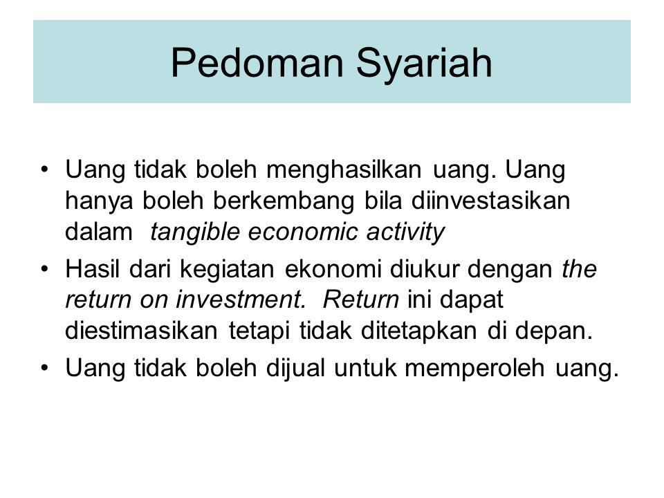 Pedoman Syariah Saham dalam perusahaan, kegiatan mudharabah atau partnership musyarakah dapat diperjual-belikan dalam rangka kegiatan investasi dan bukan untuk spekulasi dan untuk tujuan perdagangan kertas berharga.