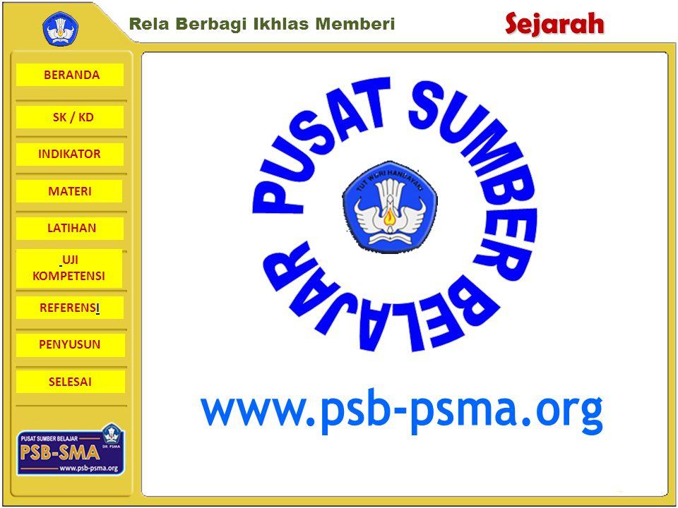 BERANDA SK / KD INDIKATORSejarah Rela Berbagi Ikhlas Memberi MATERI LATIHAN UJI KOMPETENSI REFERENSI PENYUSUN SELESAI Perkembangan Islam di Daerah Sulawesi Islam dibawa oleh Para pedagang yang tiba melalui Malaka, Sumatera, dan Jawa.