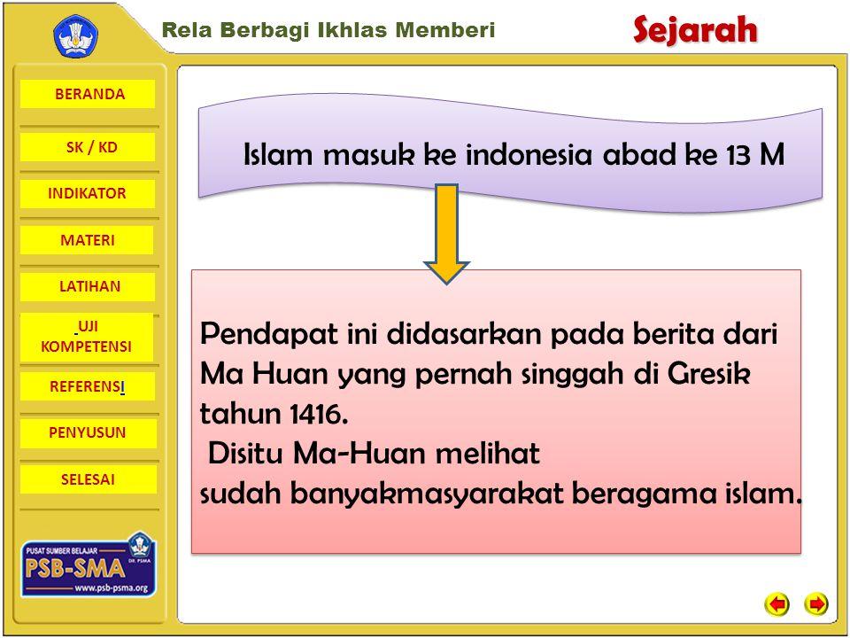 BERANDA SK / KD INDIKATORSejarah Rela Berbagi Ikhlas Memberi MATERI LATIHAN UJI KOMPETENSI REFERENSI PENYUSUN SELESAI Nisan makam Sultan Malik al-Saleh
