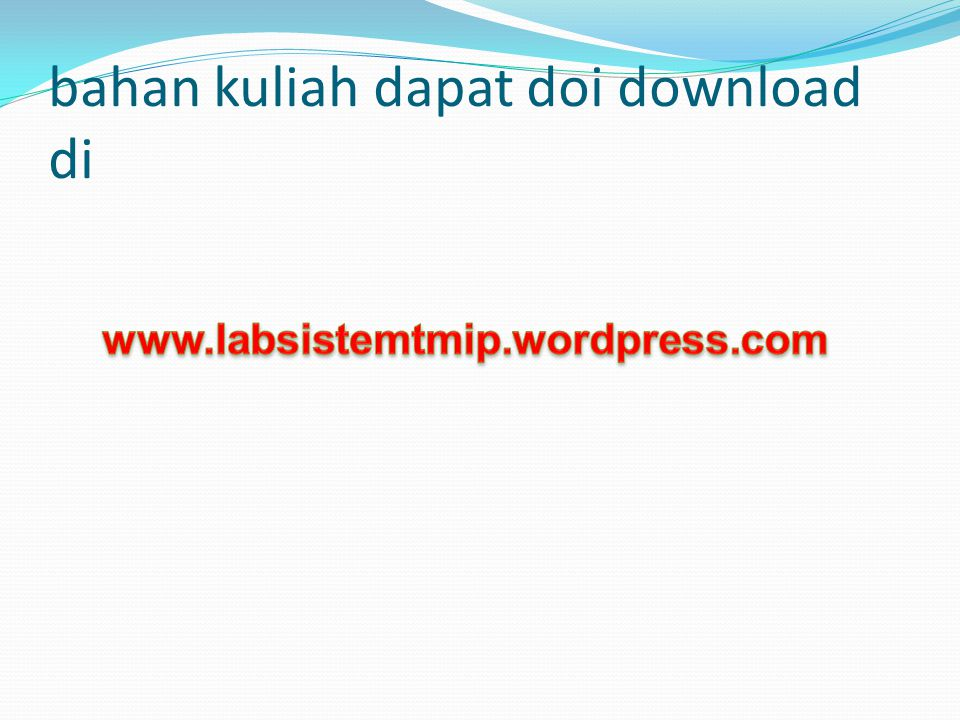 bahan kuliah dapat doi download di