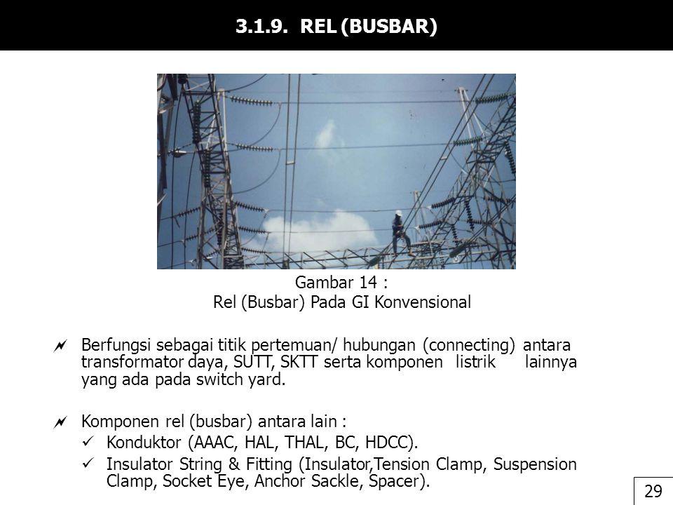 3.1.9. REL (BUSBAR)  Berfungsi sebagai titik pertemuan/ hubungan (connecting) antara transformator daya, SUTT, SKTT serta komponen listrik lainnya ya
