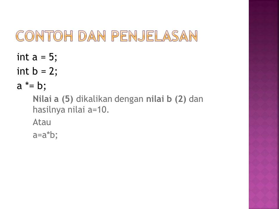 Operator (+) adalah operator penambahan dari dua atau lebih atribut atau nilai.