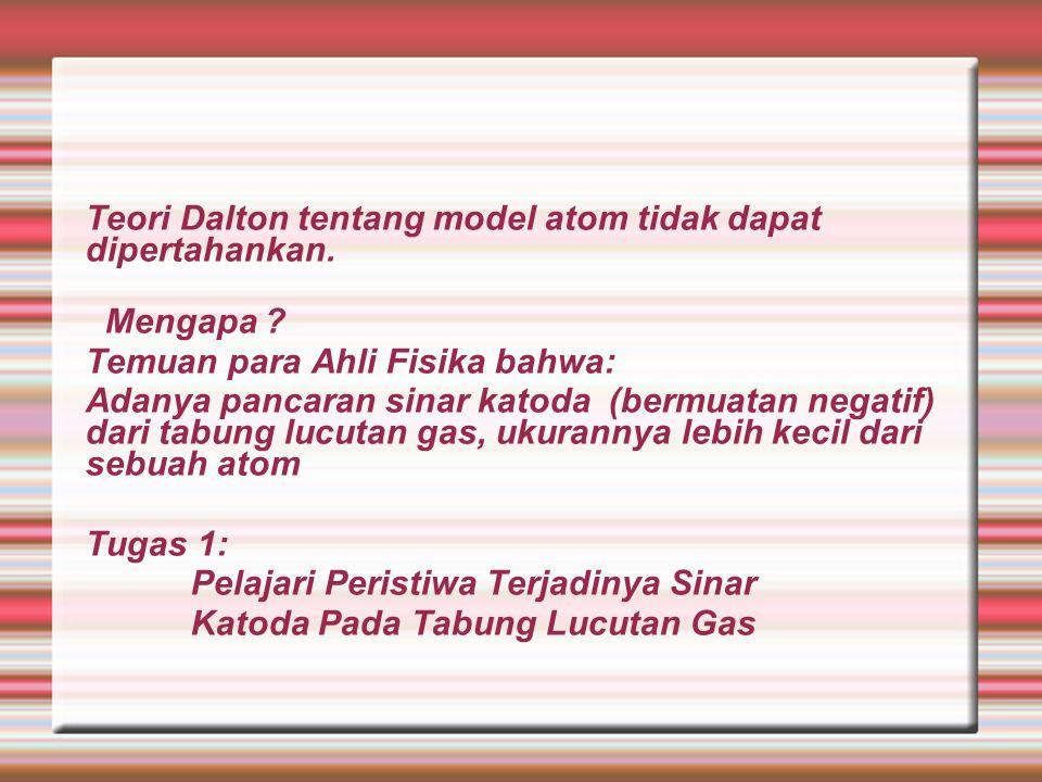Pertanyaan: Apakah pengertian atom menurut model Dalton.