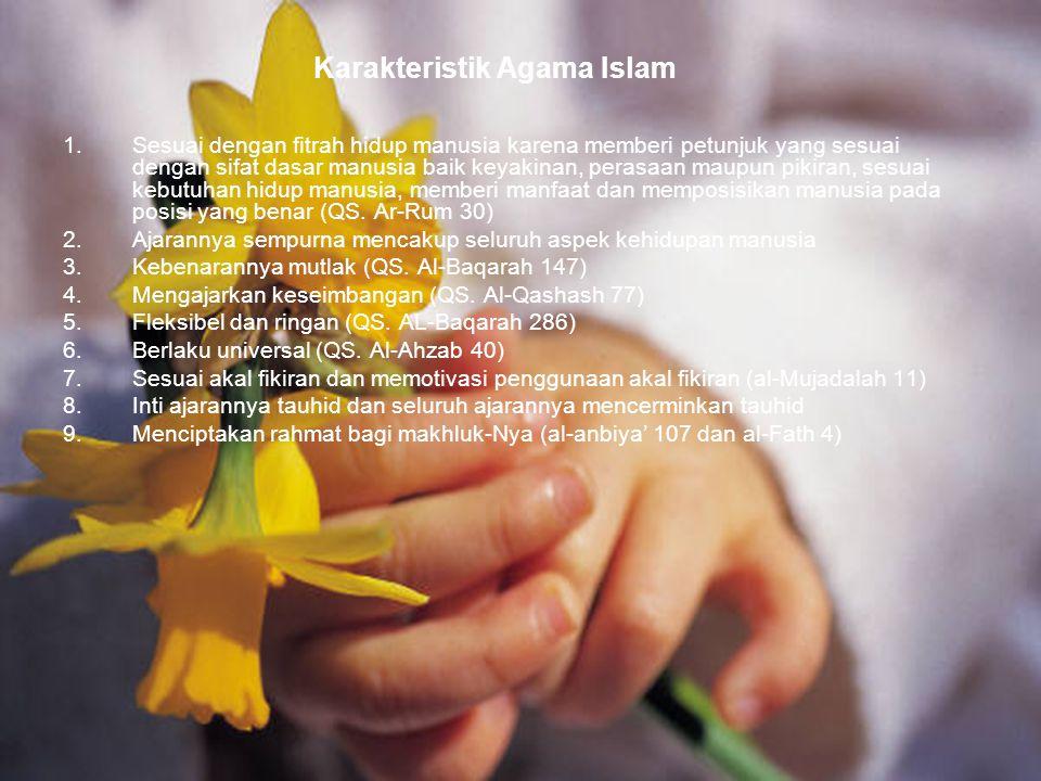 82 Bentuk-bentuk kerahmatan Islam  Islam menunjukkan jalan hidup yang benar dengan ajarannya baik yang supra rasional (ta'abbudi) maupun yang rasional (ta'aqquli)  Islam memberi kebebasan kepada manusia untuk menggunakan potensinya secara bertanggungjawab.