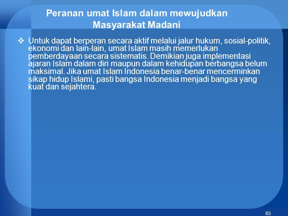 86 Sistem Ekonomi Islam dan Kesejahteraan Umat  Sistem ekonomi Islam adalah pelaksanaan prinsip-prinsip ekonomi yang dipengaruhi/dibatasi ajaran-ajaran Islam yaitu syarat-syarat moral, sosial dan temperance (pembatasan diri).