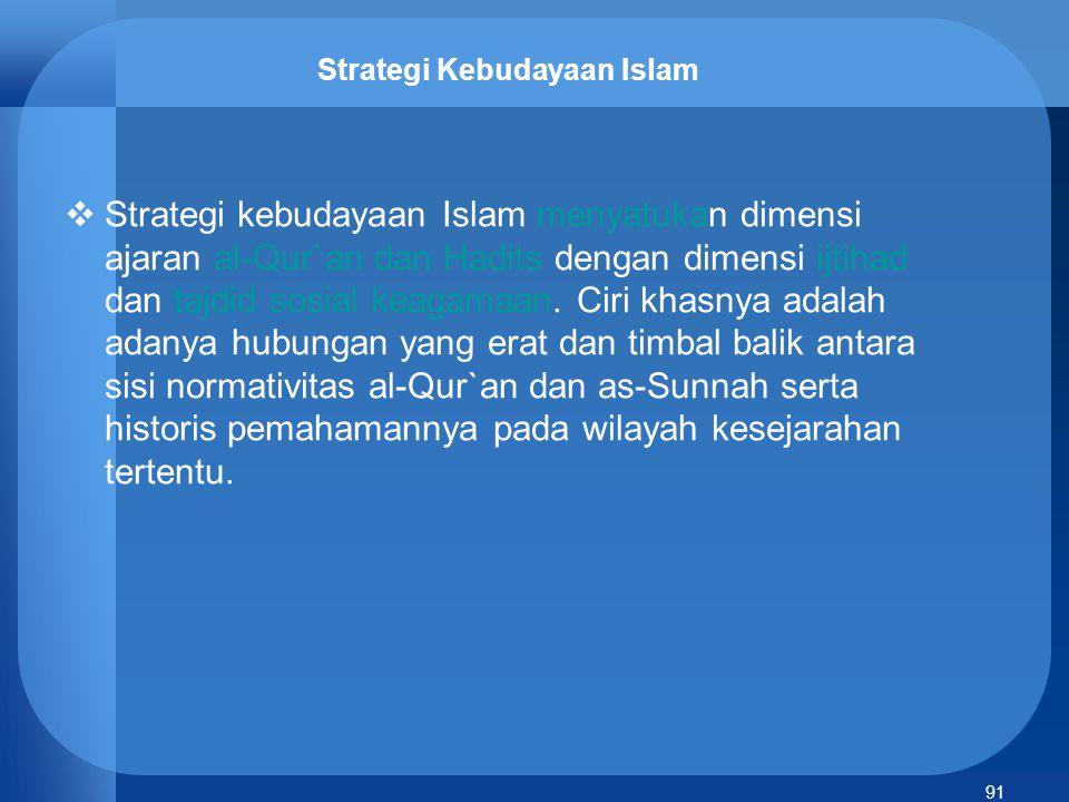 92 Nilai-nilai Islam dalam Budaya Indonesia  Islam masuk ke Indonesia lengkap dengan budaya asli tempat Islam pertama kali berkembang, yaitu Arab.