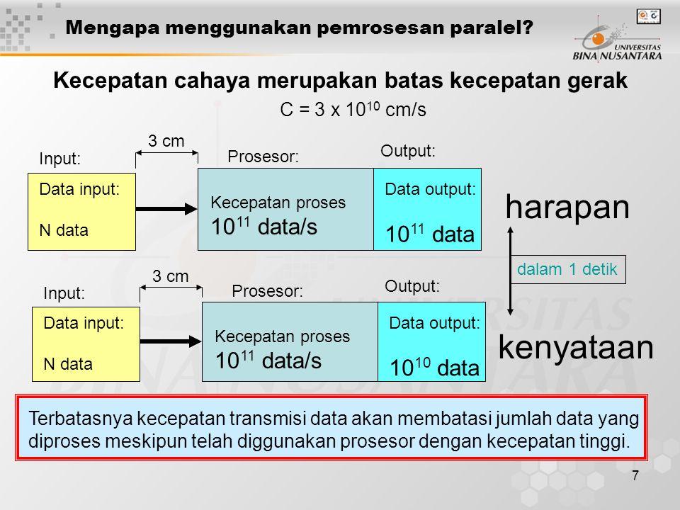 7 Mengapa menggunakan pemrosesan paralel.