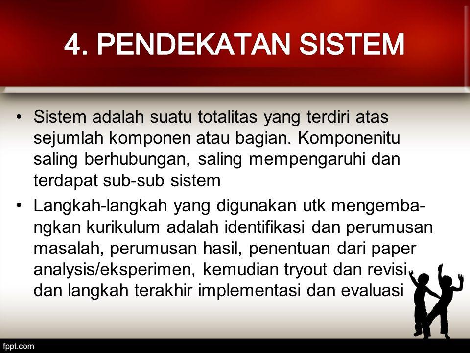Sistem adalah suatu totalitas yang terdiri atas sejumlah komponen atau bagian. Komponenitu saling berhubungan, saling mempengaruhi dan terdapat sub-su