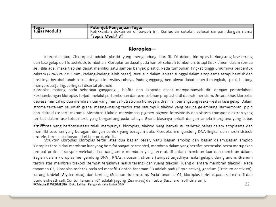 TugasPetunjuk Pengerjaan Tugas Tugas Modul 3 Ketikkanlah dokumen di bawah ini.