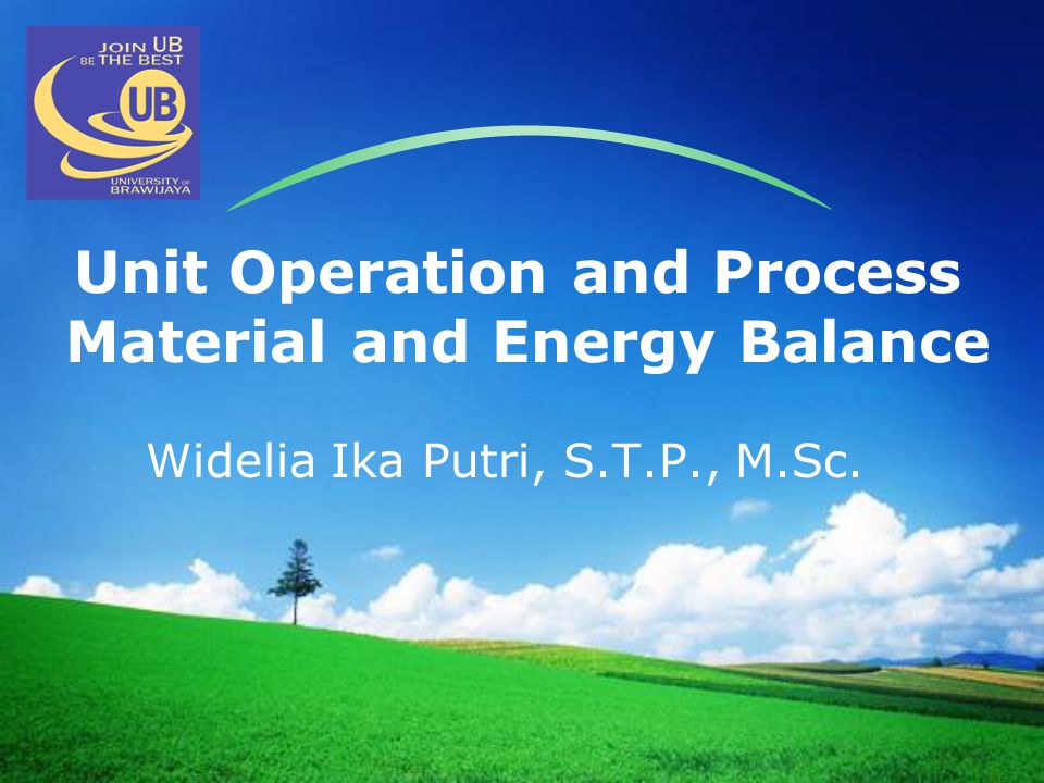 wideliaikaputri@ub.ac.id February 2012 Basic Principles  The mass and energy going into the box must balance with the mass and energy coming out.