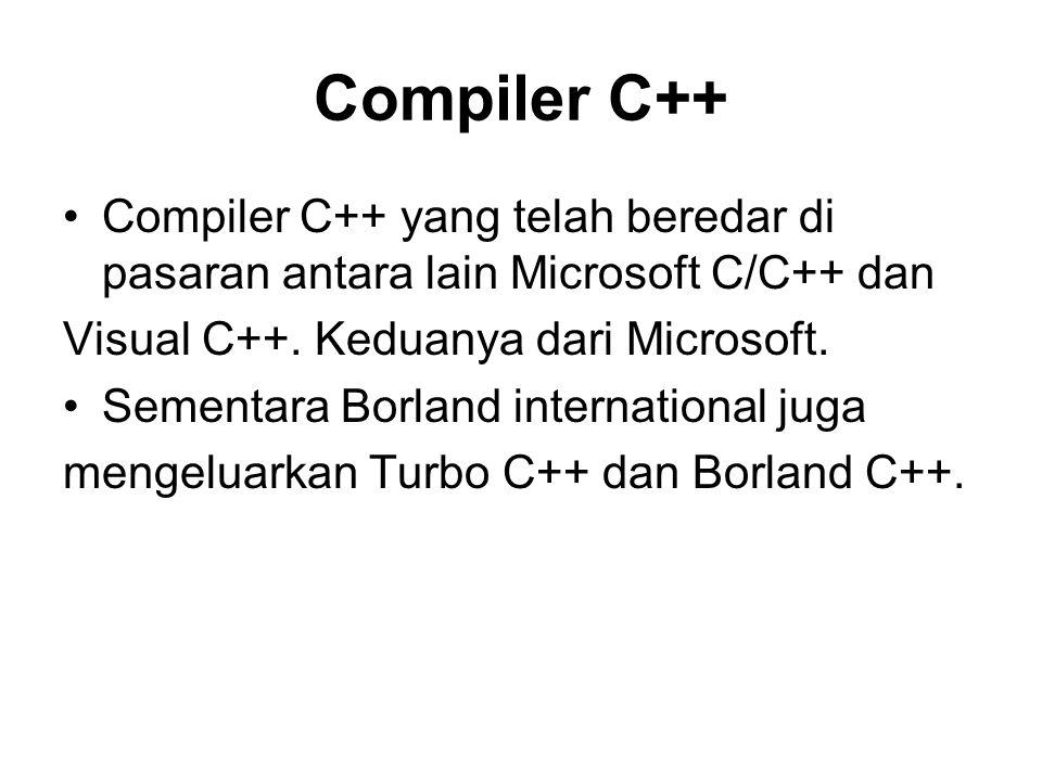 PENGENALAN PROGRAM C++ A.