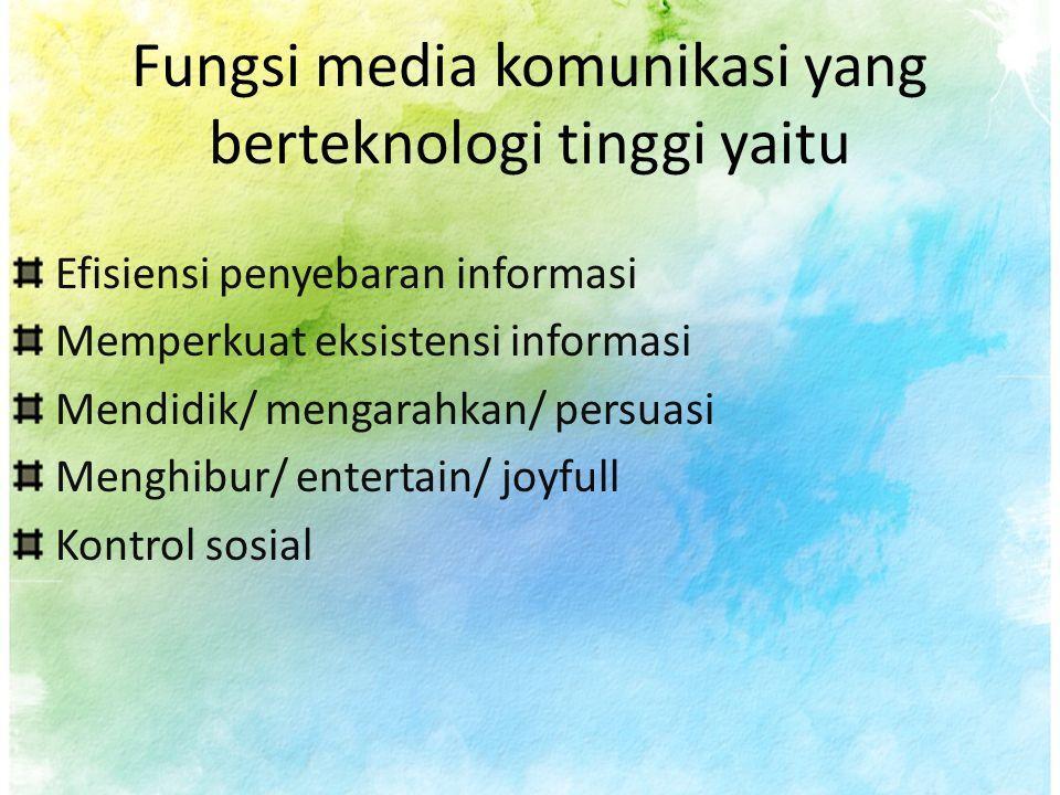 Jenis Media Komunikasi Menurut sifatnya media dapat di bagi: 1.Media komunikasi audio 2.Media komunikasi visual 3.Media komunikasi audio visual