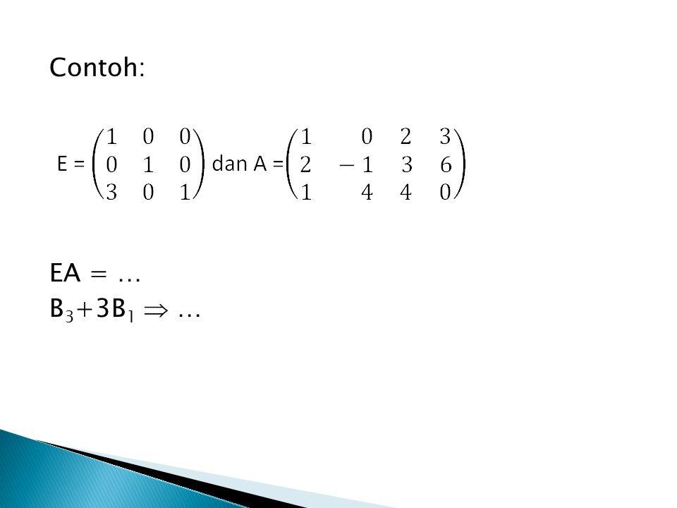EA = … B 3 +3B 1  …