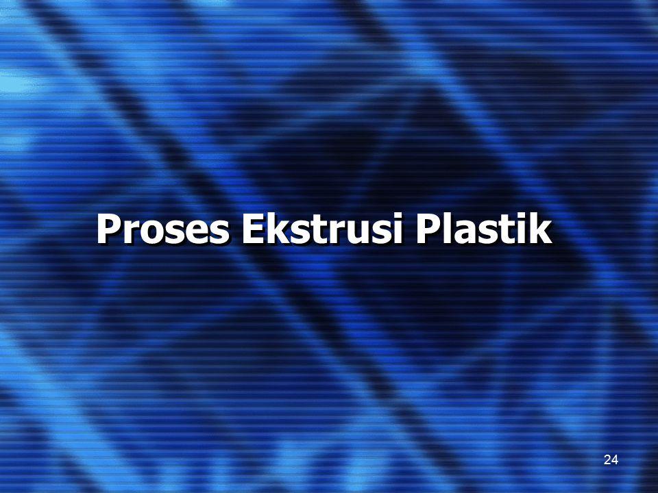24 Proses Ekstrusi Plastik