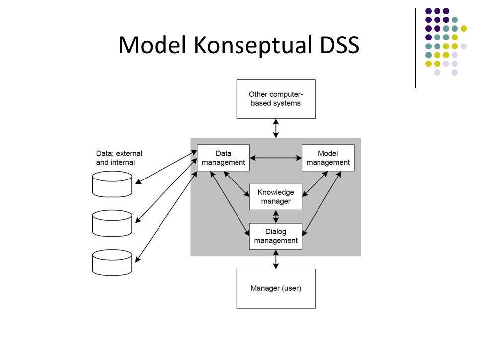 The Data Management Subsystem Terdiri dari elemen-elemen: DSS database.