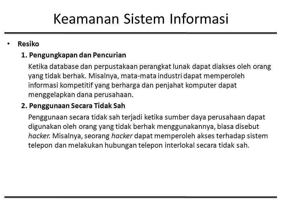 Keamanan Sistem Informasi Resiko 1.