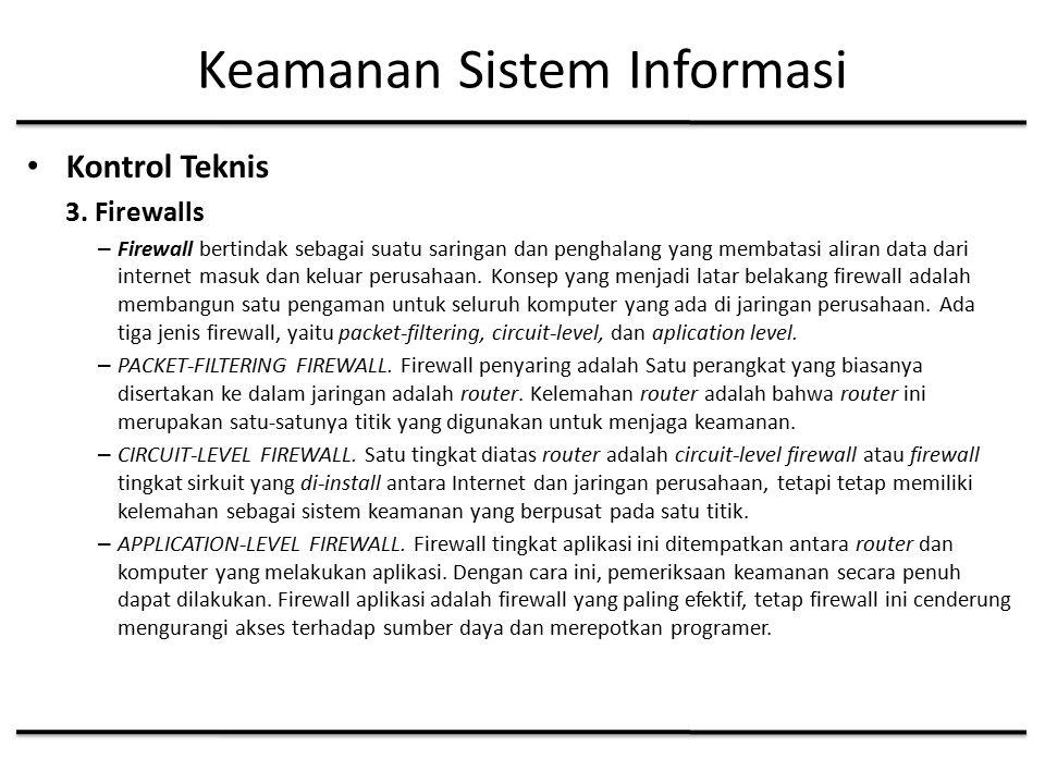 Keamanan Sistem Informasi Kontrol Teknis 3.