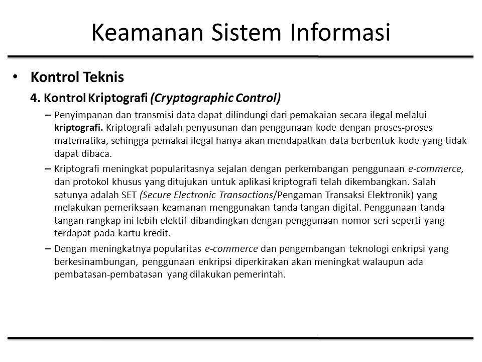 Keamanan Sistem Informasi Kontrol Teknis 4.