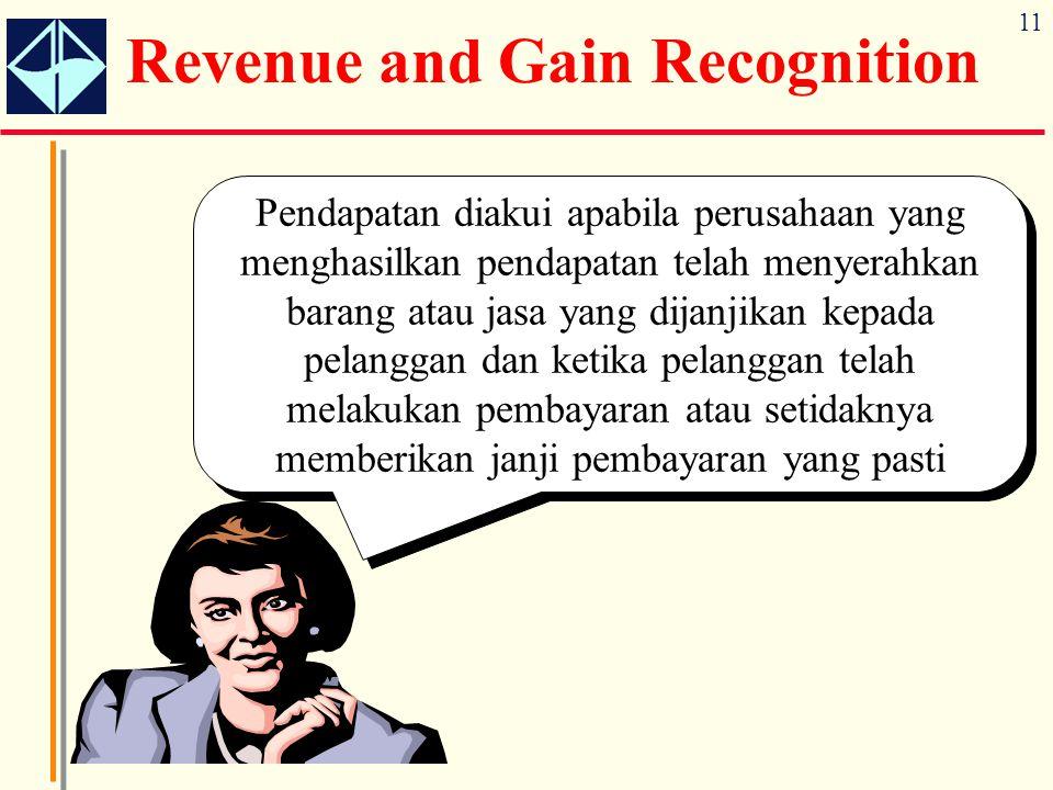 11 Pendapatan diakui apabila perusahaan yang menghasilkan pendapatan telah menyerahkan barang atau jasa yang dijanjikan kepada pelanggan dan ketika pe
