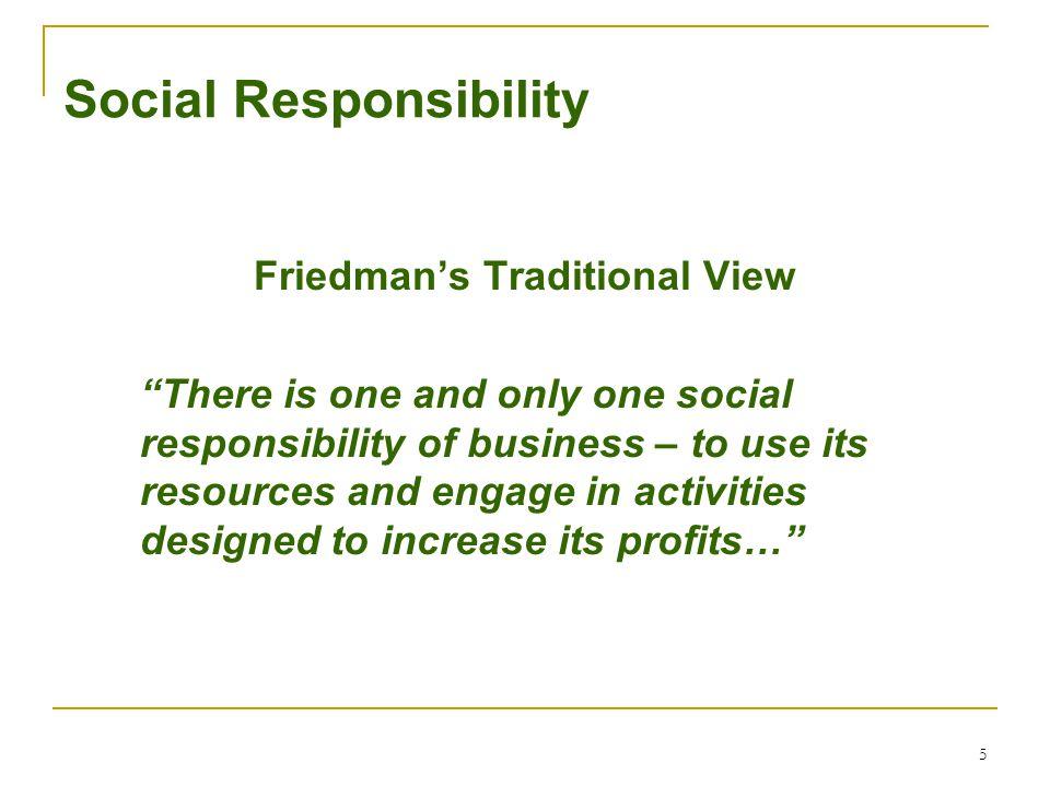 6 Social Responsibility Carroll's Four Responsibilities  Economic  Legal  Ethical  Discretionary