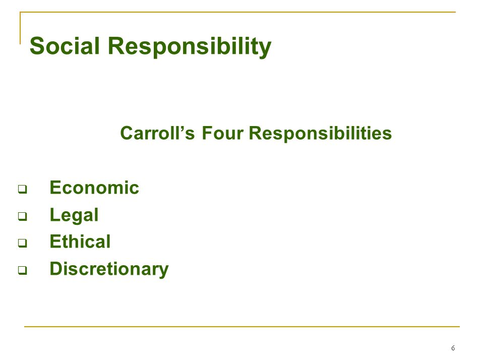 7 Responsibilities of Business