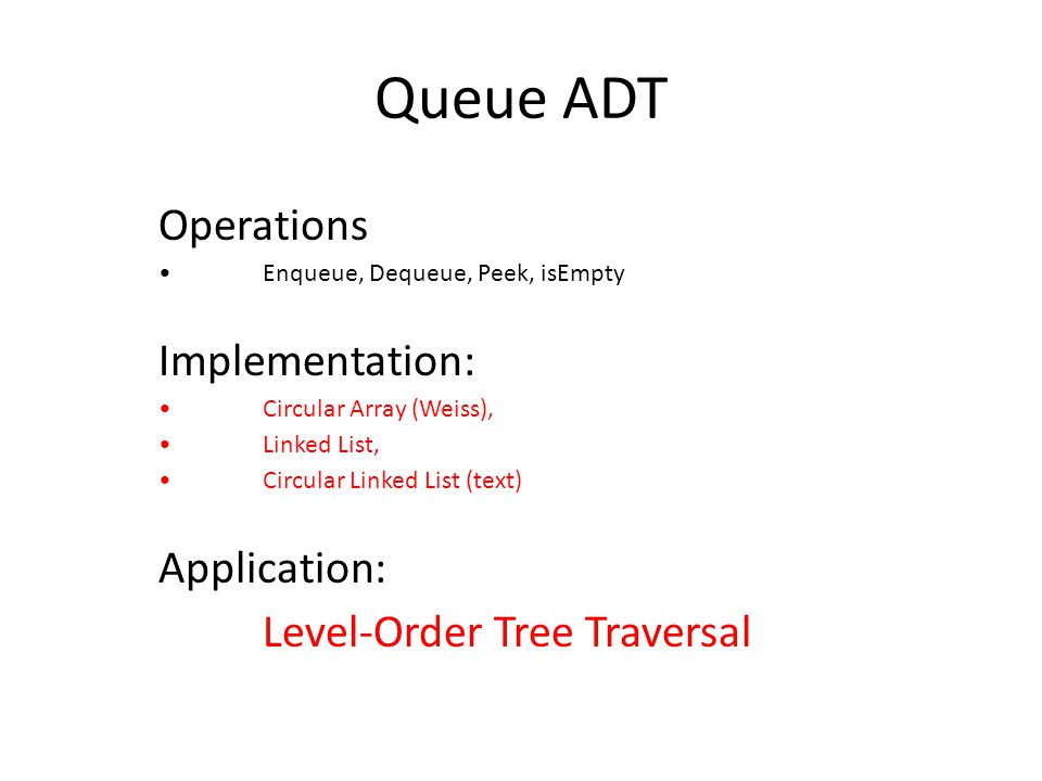 36 A deque ADT Java does not provide a deque class Here is a possible deque ADT: – Deque() : the constructor – boolean empty() – Object addAtFront(Object item) – Object addAtRear(Object item) – Object getFromFront() – Object getFromRear() – Object peekAtFront() – Object peekAtRear() – int search(Object o): Returns the 1-based position from the front of the deque