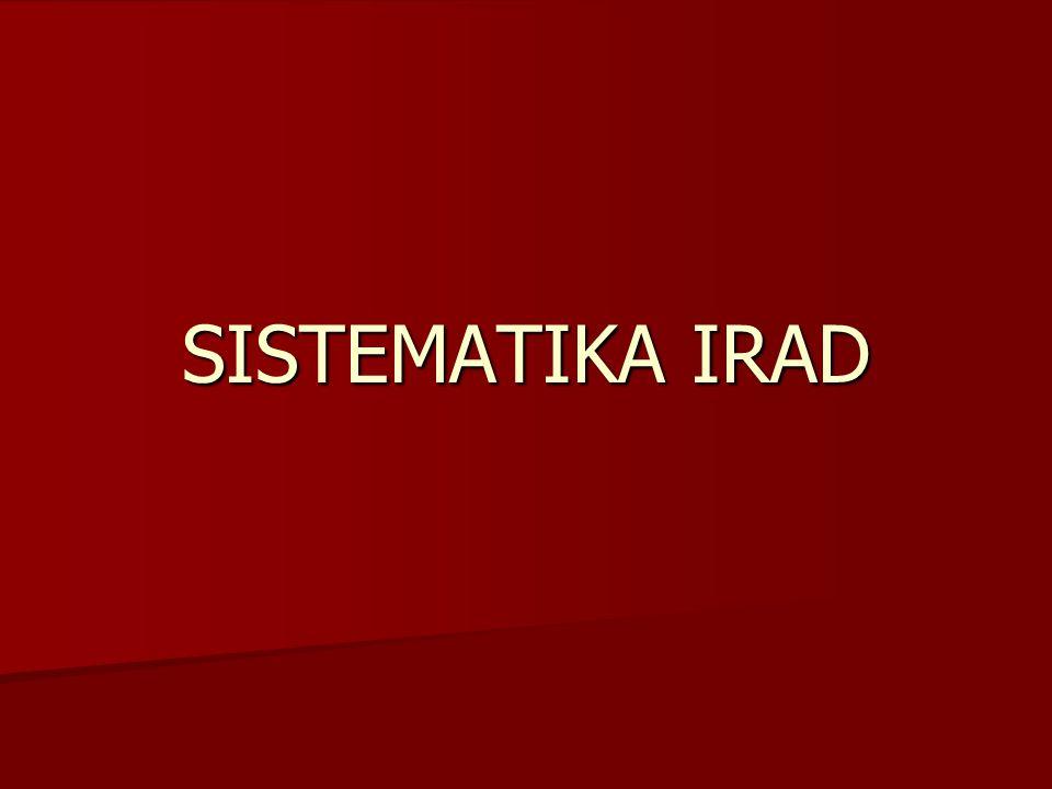 SISTEMATIKA IRAD