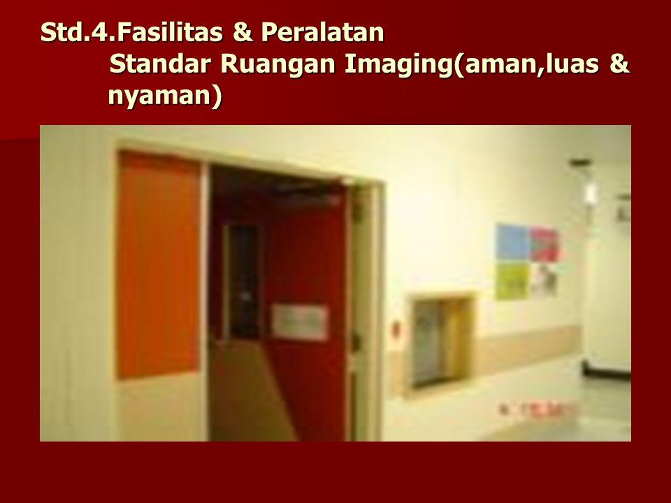 Std.4.Fasilitas & Peralatan Standar Ruangan Imaging(aman,luas & nyaman)