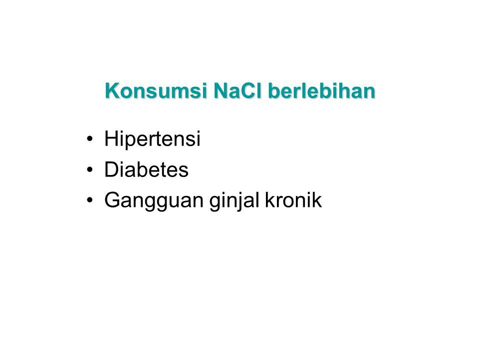 Konsumsi NaCl berlebihan Hipertensi Diabetes Gangguan ginjal kronik