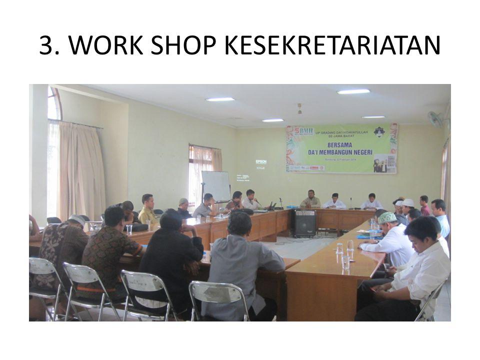 3. WORK SHOP KESEKRETARIATAN