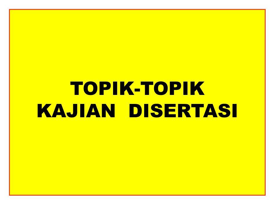 TOPIK-TOPIK KAJIAN DISERTASI