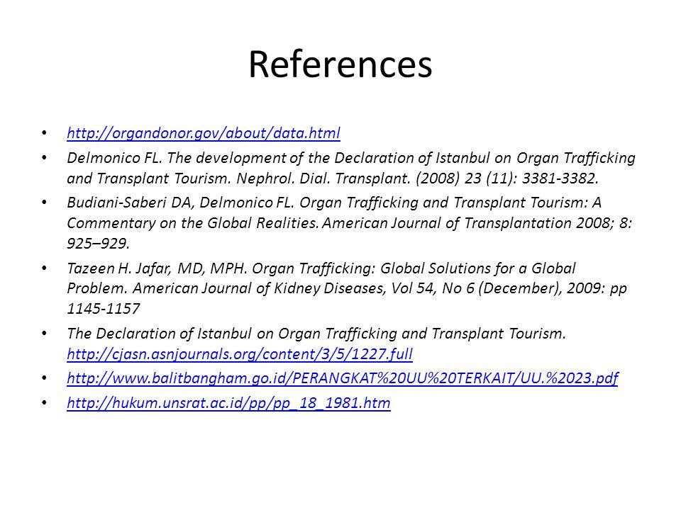 References http://organdonor.gov/about/data.html Delmonico FL.