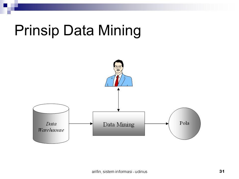 arifin, sistem informasi - udinus 31 Prinsip Data Mining