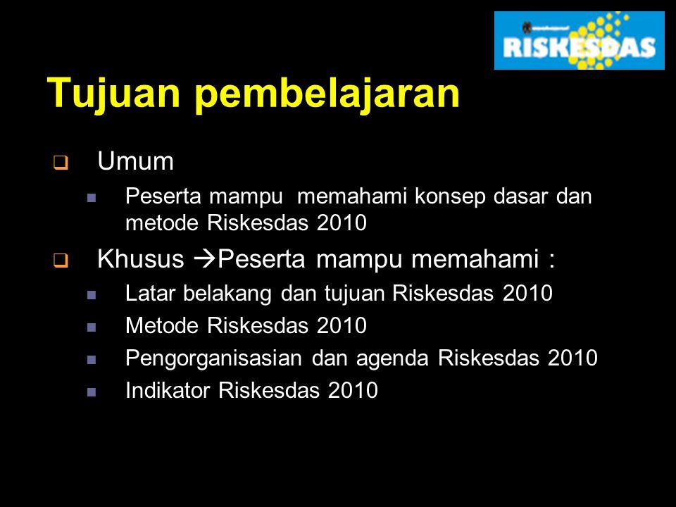 Riset Kesehatan Dasar 2010 Badan Litbang Kesehatan Kementerian Kesehatan RI