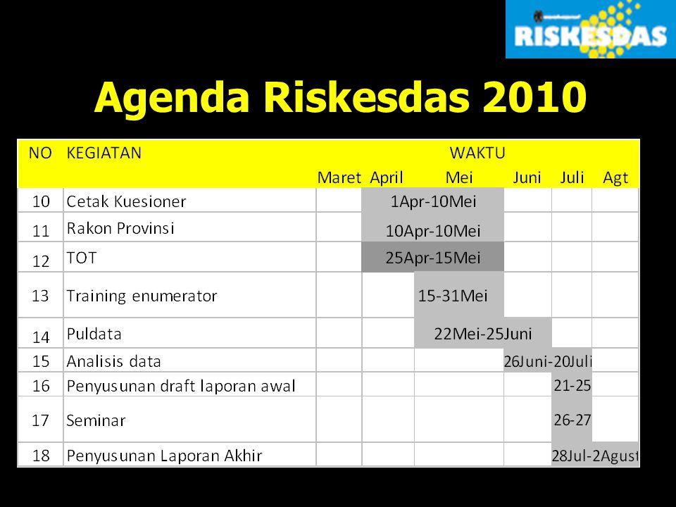 Agenda Riskesdas 2010