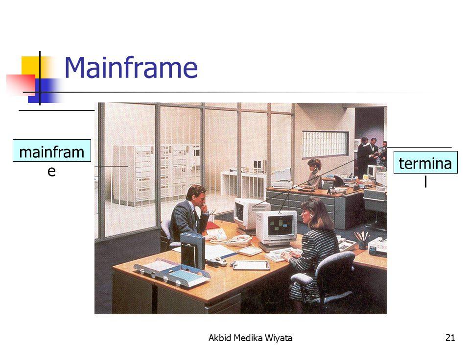 21 Mainframe mainfram e termina l Akbid Medika Wiyata