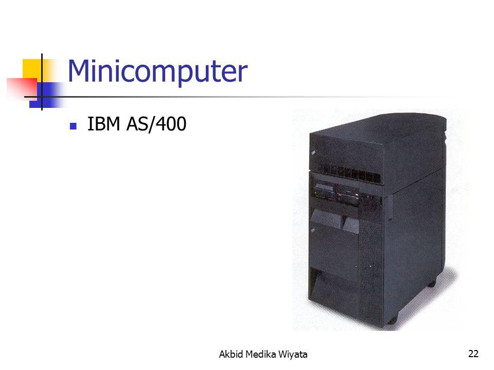 22 Minicomputer IBM AS/400 Akbid Medika Wiyata